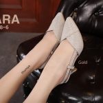 รองเท้าคัทชู ส้นสูง รัดส้น แต่งกลิสเตอร์สวยหรู ทรงสวย ส้นสูงประมาณ 3 นิ้ว ใส่สบาย แมทสวยได้ทุกชุด (ฺB118-6)