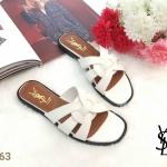 รองเท้าแตะแฟชั่น แบบสวม คาดหน้าสไตล์อีฟแซงสวยเก๋ อินเทรนด์ หนังนิ่ม ทรงสวย ใส่สบาย แมทสวยได้ทุกชุด (B-063)