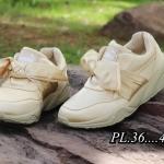 รองเท้าผ้าใบแฟชั่น สไตล์ PUMA รุ่นซาตินสุดฮิต วัสดุอย่างดีแต่งผูกโบว์ด้านหน้า ใส่สบาย ใส่เที่ยว ออกกำลังกาย แมทสวยเท่ห์ได้ทุกชุด