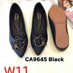 รองเท้าคัทชู ส้นแบน แต่งอะไหล่สวยหรู ทรงสวย หนังนิ่ม ใส่สบาย แมทสวยได้ทุกชุด (CA9645)