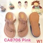 รองเท้าแตะแฟชั่น แบบสวมนิ้วโป้ง คาดหน้าเฉียงแต่งอะไหล่สวยหรู พื้นนิ่ม ใส่สบาย แมทสวยได้ทุกชุด (CA8706)