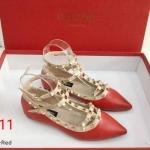 รองเท้าคัทชู ส้นแบน รัดข้อ แต่งหมุดสไตล์วาเลนติโน รัดข้อ 2 สายสวยเก๋ ทรงสวย หนังนิ่ม ใส่สบาย แมทสวยได้ทุกชุด (K2990)