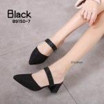 รองเท้าคัทชู เปิดส้น ส้นสูง กลิสเตอร์วิ้งเป็นประกาย สายคาดแต่งคลิสตัลสวยหรู ส้นสูงประมาณ 3 นิ้ว ใส่สบาย แมทสวยได้ทุกชุด (B9150-7)