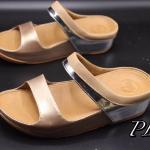 รองเท้าแตะแฟชั่น แบบหนีบ แต่งสีทูโทนสวยเก๋ พื้นซอฟคอมฟอตนิ่มสไตล์ฟิตฟลอบ ใส่สบายมาก แมทสวยได้ทุกชุด