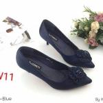 รองเท้าคัทชู ส้นเตี้ย แต่งดอกไม้สวยหรู หนังนิ่ม ทรงสวย ส้นสูงประมาณ 2 นิ้ว ใส่สบาย แมทสวยได้ทุกชุด (K9200)