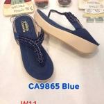 รองเท้าแฟชั่น ส้นมัฟฟิน แบบหนีบ แต่งอะไหล่สวยเก๋ หนังนิ่ม พื้นนิ่ม งานสวย ใส่สบาย แมทสวยได้ทุกชุด (CA9865)