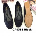 รองเท้าคัทชู ส้นแบน ทรงหัวมน แต่งคลิสตัลสวยหรู หนังนิ่ม ทรงสวย ใส่สบาย แมทสวยได้ทุกชุด (CA9388)