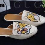 รองเท้าคัทชู เปิดส้น แต่งลายเสืออะไหล่สไตล์กุชชี่สวยเก๋ หนังนิ่ม ทรงสวย ใส่สบาย แมทสวยได้ทุกชุด (TG268)