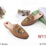 รองเท้าคัทชู เปิดส้น แต่งลายเสือสไตล์เคนโซ่สวยเก๋ ทรงสวย หนังนิ่ม ใส่สบาย แมทสวยได้ทุกชุด (K9327)