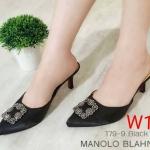 รองเท้าคัทชู เปิดส้น แต่งอะไหล่หรูสไตล์แบรนด์ ทรงสวย ส้นสูงประมาณ 2 นิ้ว ใส่สบาย แมทสวยได้ทุกชุด (179-9)