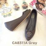รองเท้าคัทชู ส้นเตารีด แต่งอะไหล่สวยหรู หนังนิ่ม ทรงสวย ใส่สบาย ส้นสูงประมาณ 2 นิ้ว แมทสวยได้ทุกชุด (CA8311A)