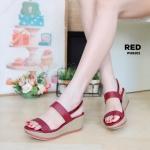 รองเท้าแฟชั่น ส้นเตารีด รัดส้น สวยเรียบเก๋ ทรงสวย หนังนิ่ม ใส่สบาย แมทสวยได้ทุกชุด (PU6101)