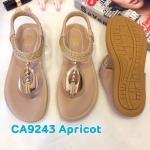 รองเท้าแตะแฟชั่น แบบหนีบ รัดส้น แต่งอะไหล่สวยเก๋ รัดส้นยางยืดนิ่ม พื้นนิ่ม ใส่สบาย แมทสวยได้ทุกชุด (CA9243)
