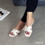 รองเท้าแตะแฟชั่น แบบสวม หน้า H แต่งฉลุลายสวยเก๋ สไตล์แอร์เมสใส่สบาย แมทสวยได้ทุกชุด (1271)