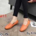 รองเท้าคัทชู ส้นแบน ทรง slip on สวยเรียบเก๋ หนังนิ่ม พื้นนิ่ม พื้นยางยืดหยุ่น ใส่สบาย แมทสวยได้ทุกชุด (N914)