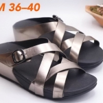 รองเท้าแตะแฟชั่น แบบสวม สายสานไขว้ แต่งเข็มขัดสวยเก๋ พื้นซอฟคอมฟอตนิ่มสไตล์ฟิตฟลอบ ใส่สบาย แมทสวยได้ทุกชุด
