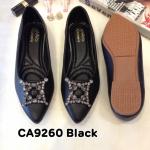 รองเท้าคัทชู ส้นแบน แต่งอะไหล่สวยเก๋ หนังนิ่ม ใส่สบาย ทรงสวย แมทสวยได้ทุกชุด (CA9260)