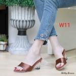 รองเท้าแฟชั่น ส้นเตารีด แบบสวม แต่งซาตินสวยเรียบหรู ส้นใสอินเทรนด์ หนังนิ่ม ทรงสวย ส้นสูงประมาณ 3 นิ้ว ใส่สบาย แมทสวยได้ทุกชุด (M1889)