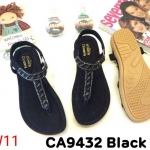 รองเท้าแตะแฟชั่น รัดส้น แบบหนีบ แต่งคลิสตัลสวยหรู หนังนิ่ม พื้นนิ่ม ทรงสวย รัดส้นยางยืดนิ่ม ใส่สบาย แมทสวยได้ทุกชุด (CA9432)