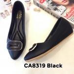 รองเท้าคัทชู ส้นเตี้ย ส้นเตารีด แต่งอะไหล่ด้านหน้าสวยเก๋ หนังนิ่ม ใส่สบาย ทรงสวย สูงประมาณ 2 นิ้ว แมทสวยได้ทุกชุด (CA8319)