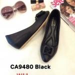 รองเท้าคัทชู ส้นเตารีด แต่งโบว์ด้านหน้าสวยเก๋ หนังนิ่ม ทรงสวย ส้นสูงประมาณ 2 นิ้ว ใส่สบาย แมทสวยได้ทุกชุด (CA9480)