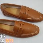 รองเท้าคัทชู ทรง loafer แต่งอะไหล H ด้านหน้าสไตล์แอร์เมสเรียบเก๋ดูดี หนังนิ่ม ทรงสวย ใส่สบาย แมทสวยได้ทุกชุด (2015-126)