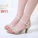 รองเท้าแฟชั่น ส้นสูง รัดส้น แต่งลายสานด้านหน้าสวยเก๋ ส้นส้นประมาณ 3 นิ้ว ใส่สบาย แมทสวยได้ทุกชุด (B116-2)