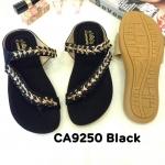 รองเท้าแตะแฟชั่น แบบสวมนิ้วโป้ง คาดเฉียง แต่งอะไหล่คลิสตัลสวยหรู พื้นนิ่ม ใส่สบาย แมทสวยได้ทุกชุด (CA9250)