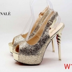 รองเท้าคัทชู ส้นสูง รัดส้น เปิดนิ้ว หนังกลิสเตอร์วิ้ง ส้นแต่งลายเกลียวเคลือบเงาสวยหรู ทรงสวย หนังนิ่ม ส้นสูงประมาณ 5.5 นิ้ว เสริมหน้า ใส่ออกงาน ปาร์ตี้ สวยโดดเด่น แมทสวยได้ทุกชุด
