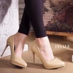 รองเท้าคัทชู ส้นสูง ZARA style ทรงหัวแหลม หนังคุณภาพสวยดูดี มีเสริมหน้า แต่งเส้น ทองที่ส้นเก๋ๆ ใส่สวยสง่าดูดีมาก ทรงนี้สวย ใส่ดูเท้าเรียวเล็ก พื้นนิ่มอย่างดี แมทได้ทุกชุด สูง 4 นิ้ว เสริมหน้า 0.5 นิ้ว (FH-254)