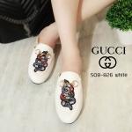 รองเท้าคัทชู เปิดส้น แต่งลายงูและอะไหล่สวยเก๋ สไตล์กุชชี่ ทรงสวย แมทสวยได้ทุกชุด (508-826)