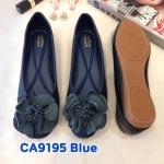รองเท้าคัทชู ส้นแบน แต่งดอกไม้สวยหวานน่ารัก ทรงสวย หนังนิ่ม ใส่สบาย แมทสวยได้ทุกชุด (CA9195)