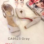 รองเท้าแฟชั่น ส้นสูง รัดข้อ คาดหน้าสวยเก๋ ทรงสวย หนังนิ่ม ส้นสูงประมาณ 5 นิ้ว เสริมหน้า ใส่สบาย แมทสวยได้ทุกชุด (CA9523)