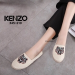รองเท้าคัทชู ทรง slip on ปักลายเสือสวยเก๋ สไตล์เคนโซ่ แต่งขอบส้นเชือกถัก ทรงสวย ส้นใส่สบายมาก แมทสวยได้ทุกชุด (345-210)