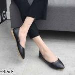 รองเท้าคัทชู ส้นแบน หนังนิ่ม ดีไซน์เว้าข้าง ทรงสวย ใส่สบาย แมทสวยได้ทุกชุด (K3145)
