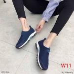 รองเท้าผ้าใบแฟชั่น แบบไร้เชือก สวยเรียบเก๋สไตล์แบรนด์ วัสดุอย่างดี ผ้านิ่มกระชับเท้า ทรงสวย พื้นยางยืดหยุ่น ใส่สบาย ใส่เที่ยว ออกกำลังกาย แมทสวยเท่ห์ได้ทุกชุด (A02)