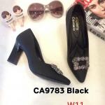 รองเท้าคัทชู ส้นสูง แต่งอะไหล่สวยหรู ส้นเหลืี่ยมเก๋ไม่เหมือนใคร หนังนิ่ม ส้นสูงประมาณ 4 นิ้ว ใส่สบาย แมทสวยได้ทุกชุด (CA9783)