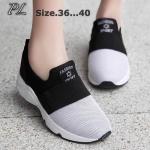 รองเท้าผ้าใบแฟชั่น สไตล์เกาหลี สวยเก๋น่ารัก วัสดุอย่างดี แบบไร้เชือก ใส่ สบาย ใส่เที่ยว ออกกำลังกาย แมทชุดเก๋ได้ทุกวัน