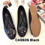 รองเท้าคัทชู ส้นแบน แต่งอะไหล่สวยหรู ทรงสวย หนังนิ่ม ใส่สบาย แมทสวยได้ทุกชุด (CA9606)