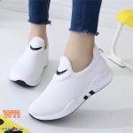 รองเท้าผ้าใบแฟชั่น เรียบเก๋สไตล์เกาหลี ทรงสวย ไม่มีเชือก ใส่ง่าย วัสดุอย่างดี ใส่สบาย ใส่เที่ยว ออกกำลังกาย แมทสวยเท่ห์ได้ทุกชุด (1733)