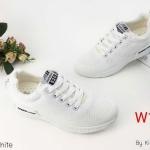 รองเท้าผ้าใบแฟชั่น สวยเท่ห์สไตล์เกาหลี บุขอบนวมนิ่ม กระชับเท้า ใส่สบาย ออกกำลังกาย ใส่เที่ยว แมทเก๋ได้ทุกชุด (W15)