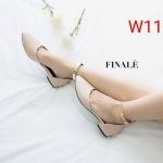 รองเท้าคัทชู ส้นแบน รัดข้อ แต่งอะไหล่ทองเรียบหรู ทรงสวย หนังนิ่ม ใส่สบาย แมทสวยได้ทุกชุด