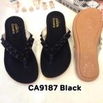 รองเท้าแตะแฟชั่น แบบหนีบ แต่งหมุดสุดเก๋ วัสดุอย่างดี พื้นนิ่ม ใส่สบาย แมทสวยได้ทุกชุด (CA9187)