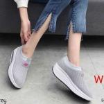 รองเท้าผ้าใบแฟชั่น แต่งลายตาข่ายสลับสีด้านในสวยเก๋ ทรงสวย เสริมส้น น้ำหนักเบา ไร้เชือก ใส่ง่าย ใส่สบาย ใส่เที่ยว ออกกำลังกาย แมทสวยได้ทุกชุด (3309)