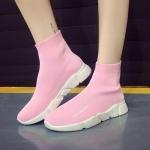 รองเท้าผ้าใบแฟชั่น หุ้มข้อ แบบไร้เชือก วัสดุอย่างดี ผ้ายืดหนานิ่มกระชับเท้า ทรงสวยสไตล์แบรนด์ พื้นยางยืดหยุ่น ใส่สบาย ใส่เที่ยว ออกกำลังกาย แมทสวยเท่ห์ได้ทุกชุด