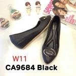 รองเท้าคัทชู ส้นเตารีด แต่งอะไหล่ด้านหน้าสวยเก๋ ทรงสวย หนังนิ่ม ใส่สบาย ส้นสูงประมาณ 2 นิ้ว แมทสวยได้ทุกชุด (CA9684)
