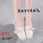 รองเท้าคัทชู ส้นแบน แต่งคาดเข็มขัดด้านหน้าสวยเก๋ หนังนิ่ม ใส่สบาย แมทสวยได้ทุกชุด (18-1347)