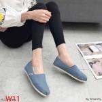 รองเท้าผ้าใบแฟชั่น ทรง slip on สไตล์ TOMs สียีนส์สวยเก๋ ทรงสวย ใส่สบาย แมทสวยได้ทุกชุด (M005)