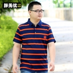 พรีออเดอร์ เสื้อยืด 2XL - 8XL อกใหญ่สุด 59.84 นิ้ว แฟชั่นเกาหลีสำหรับผู้ชายไซส์ใหญ่ แขนสั้น เก๋ เท่ห์ - Preorder Large Size Men Korean Hitz Short-sleeved T-Shirt