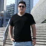 พรีออเดอร์ เสื้อยืด 2XL - 8 XL อกใหญ่สุด 55.90 นิ้ว แฟชั่นเกาหลีสำหรับผู้ชายไซส์ใหญ่ แขนสั้น เก๋ เท่ห์ - Preorder Large Size Men Korean Hitz Short-sleeved T-Shirt